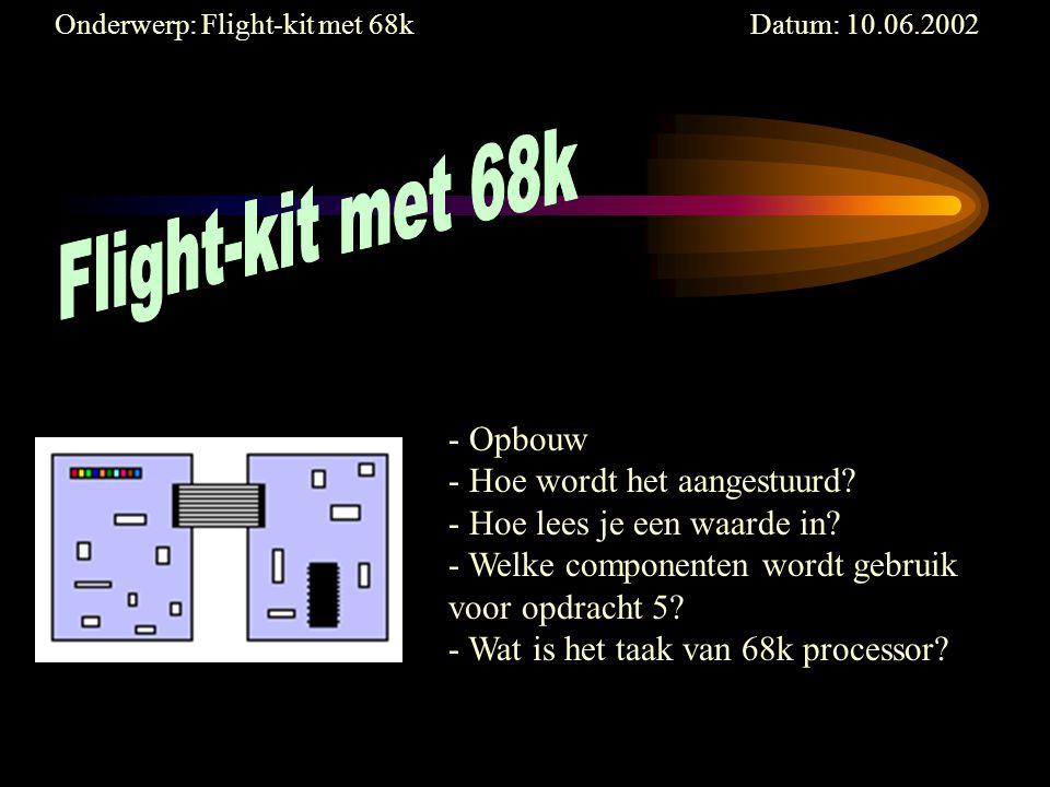 Onderwerp: Flight-kit met 68k Datum: 10.06.2002