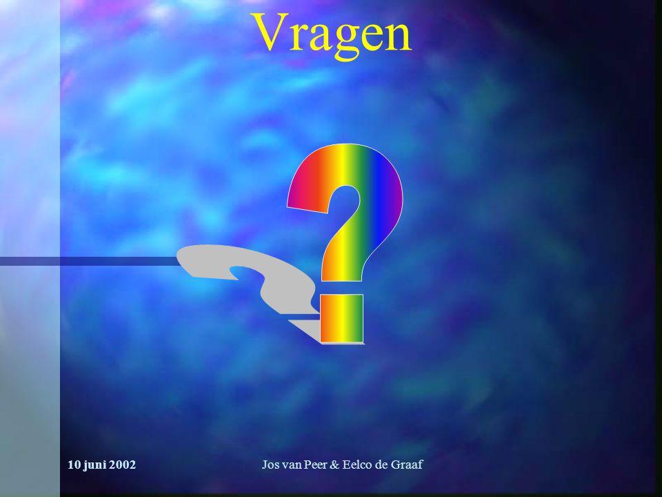 10 juni 2002Jos van Peer & Eelco de Graaf Vragen