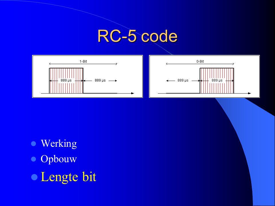 RC-5 code Werking Opbouw Lengte bit