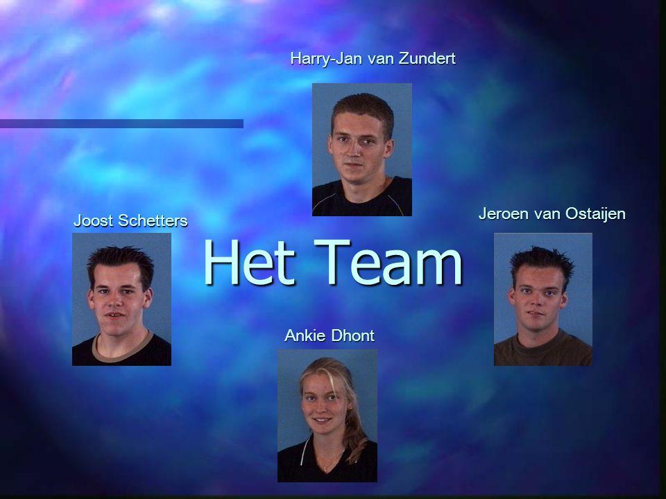 Het Team Harry-Jan van Zundert Ankie Dhont Jeroen van Ostaijen Joost Schetters