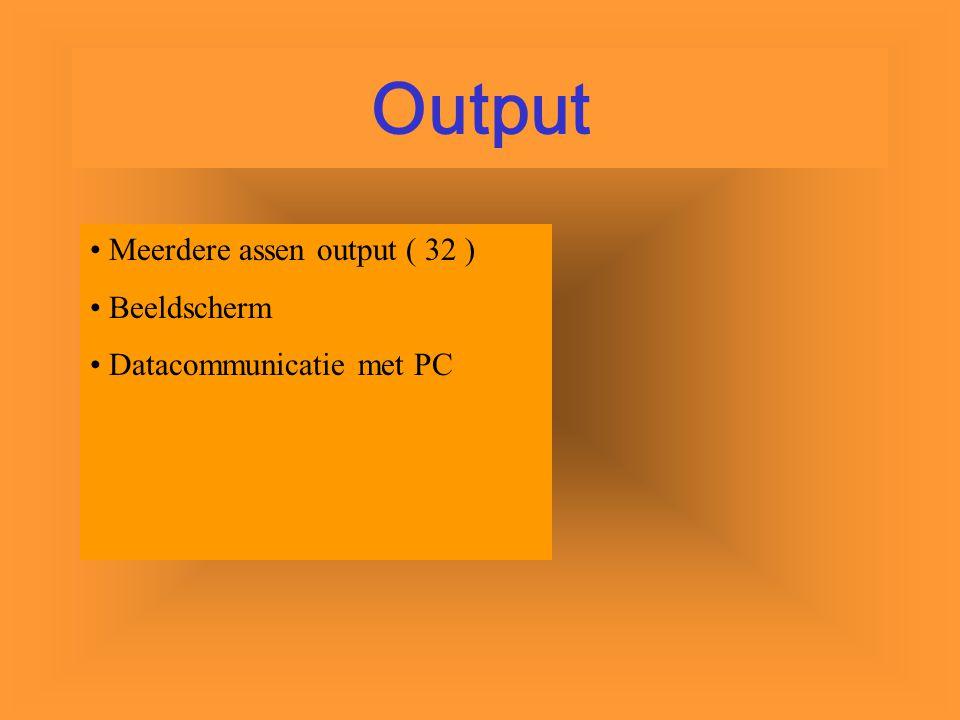 Sensoren Keyboard Datacommunicatie met PC Input
