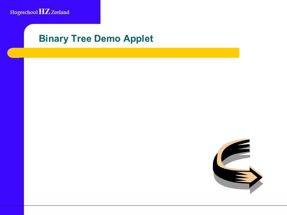 Hogeschool HZ Zeeland Binary Tree Demo Applet