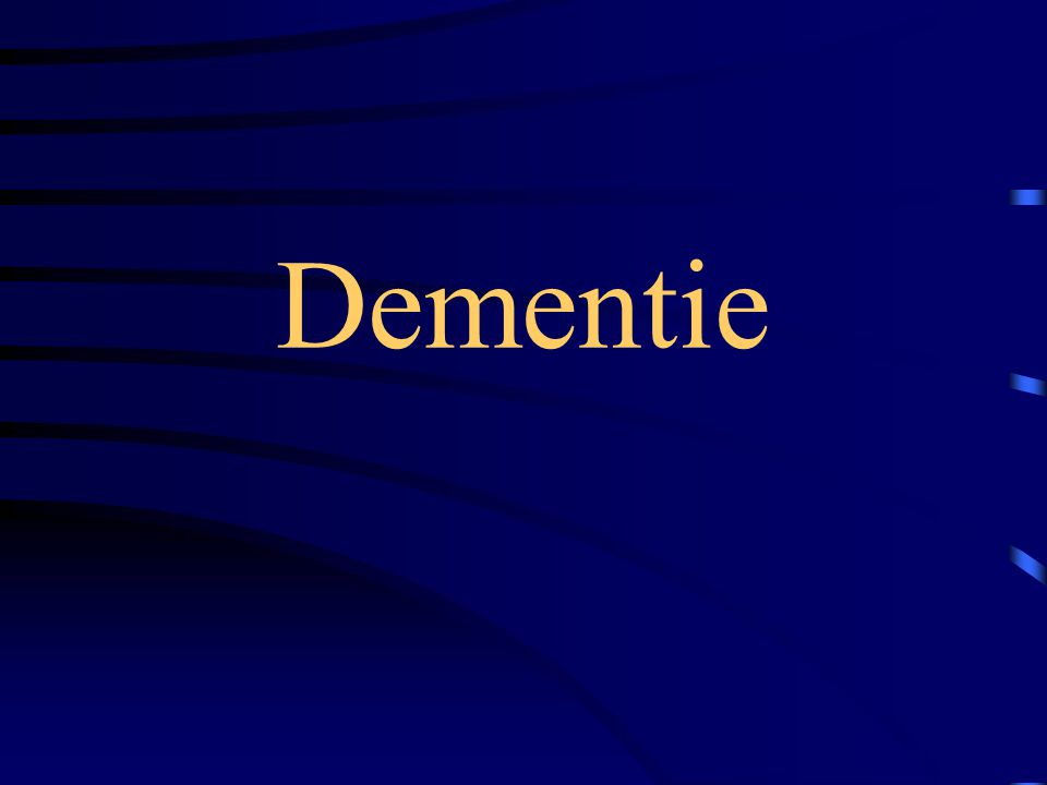 Wat is dementie.