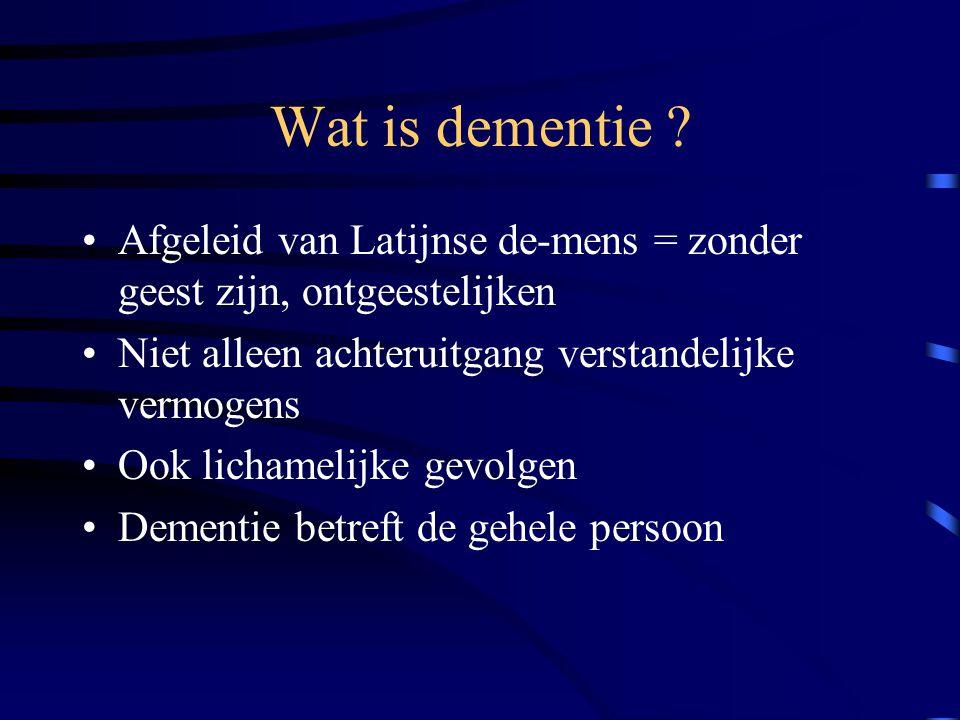 Wat is dementie .