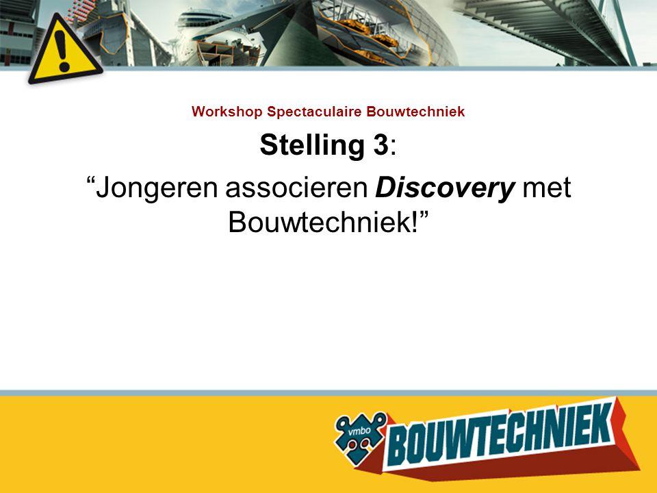 """Stelling 3: """"Jongeren associeren Discovery met Bouwtechniek!"""""""