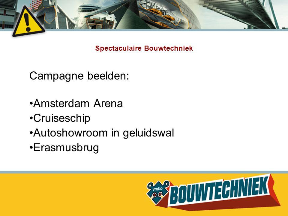 Spectaculaire Bouwtechniek Campagne beelden: Amsterdam Arena Cruiseschip Autoshowroom in geluidswal Erasmusbrug