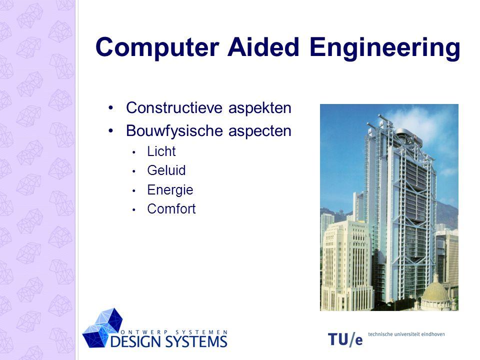 Computer Aided Engineering Constructieve aspekten Bouwfysische aspecten Licht Geluid Energie Comfort