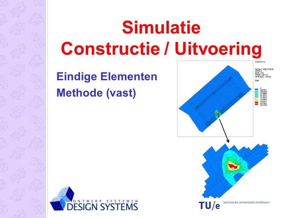 Simulatie Constructie / Uitvoering Eindige Elementen Methode (vast)