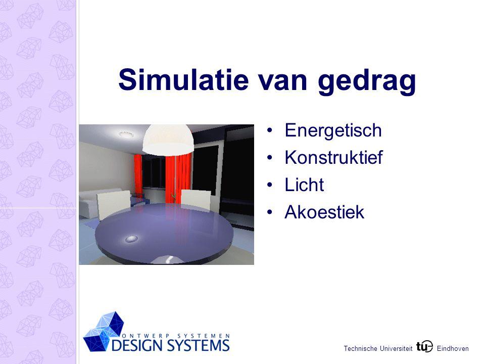 Eindhoven Technische Universiteit Simulatie van gedrag Energetisch Konstruktief Licht Akoestiek