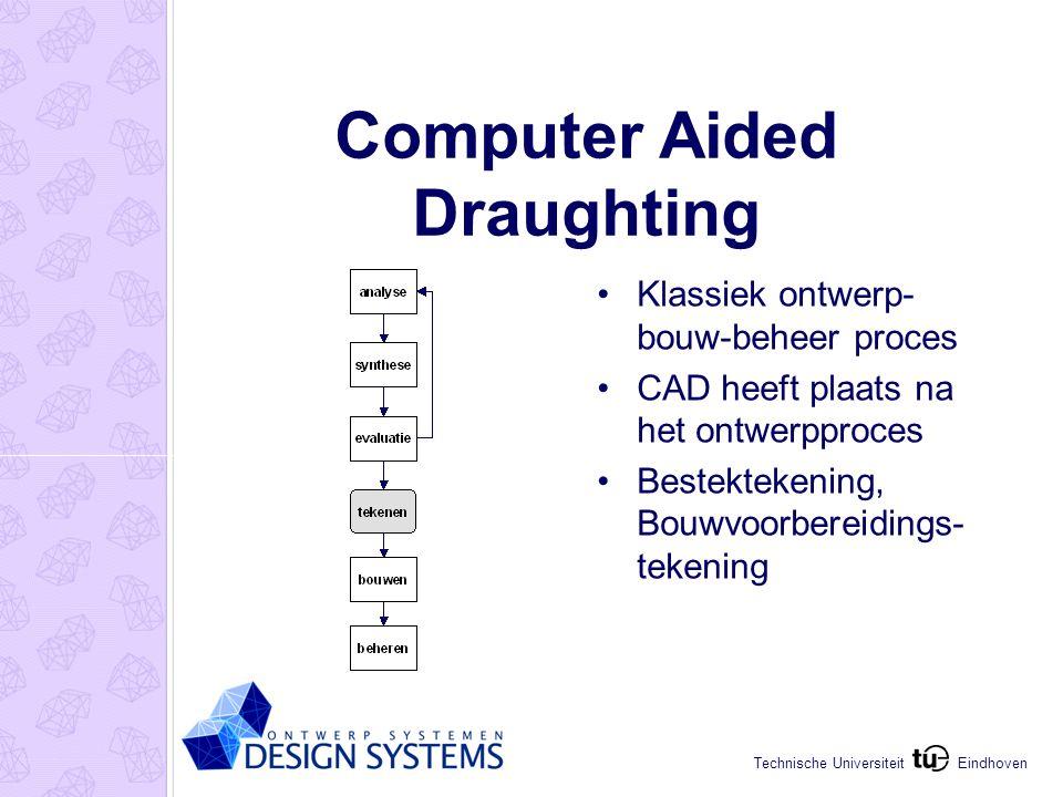 Eindhoven Technische Universiteit Computer Aided Design Introductie 3D CAD CAD in het ontwerpproces 3D modellen i.p.v.