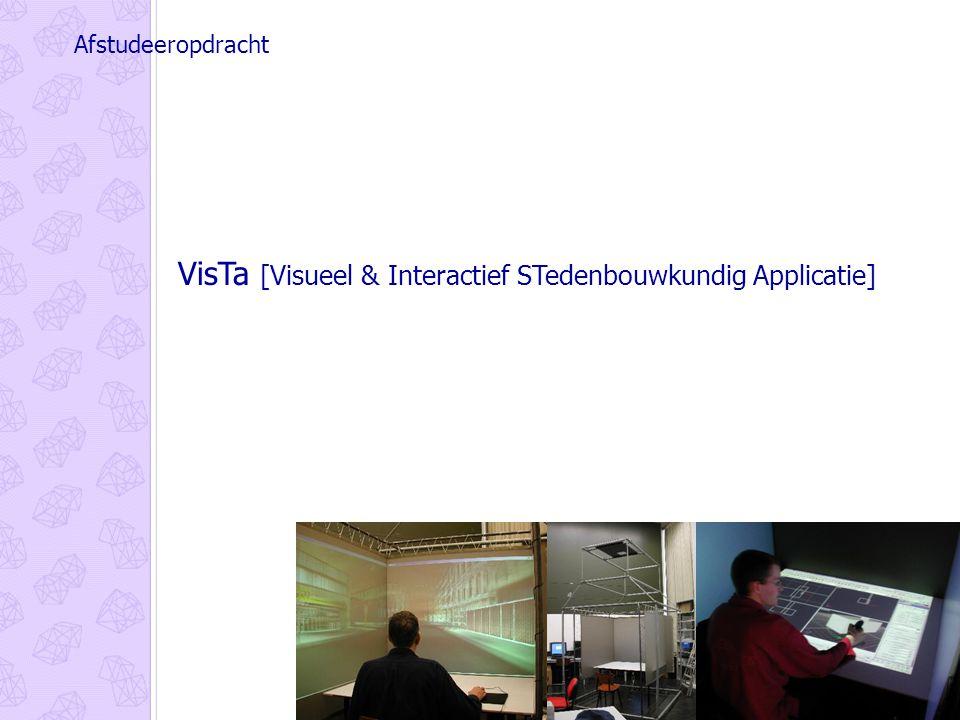 VisTa [Visueel & Interactief STedenbouwkundig Applicatie] Afstudeeropdracht