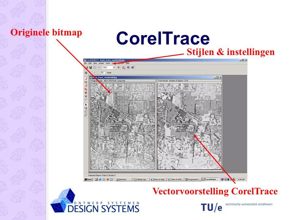 CorelTrace Originele bitmap Vectorvoorstelling CorelTrace Stijlen & instellingen