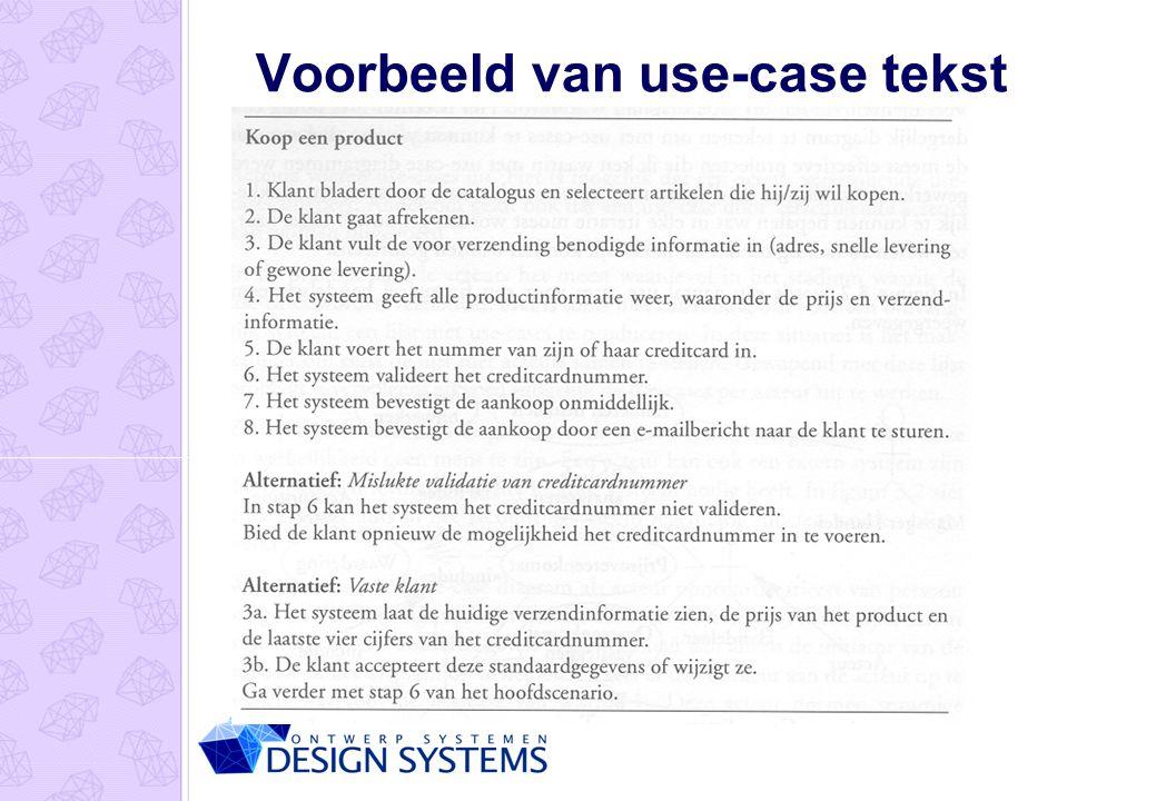 Voorbeeld van use-case tekst