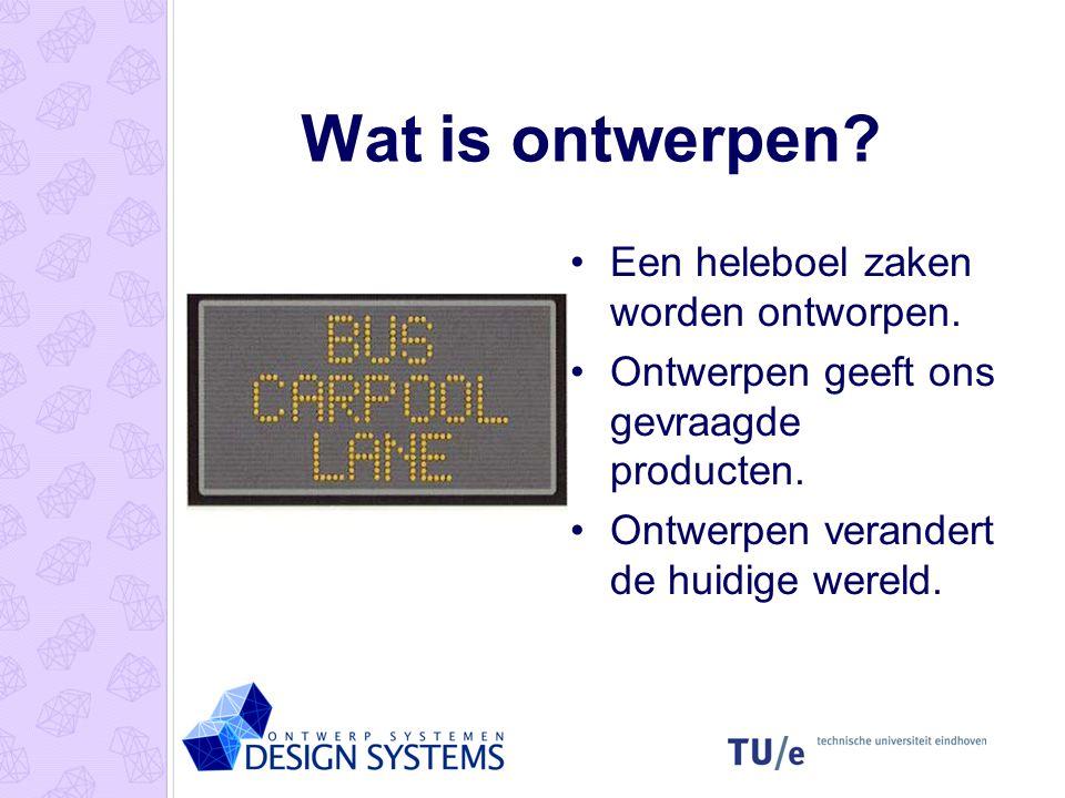 Ontwerptheorie Wat is ontwerpen? Ontwerpproblemen Ontwerpleer Basis ontwerpcyclus Eenvoudige ontwerpmethode