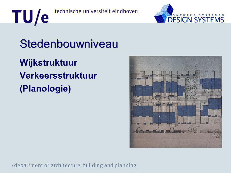 Stedenbouwniveau Wijkstruktuur Verkeersstruktuur (Planologie)