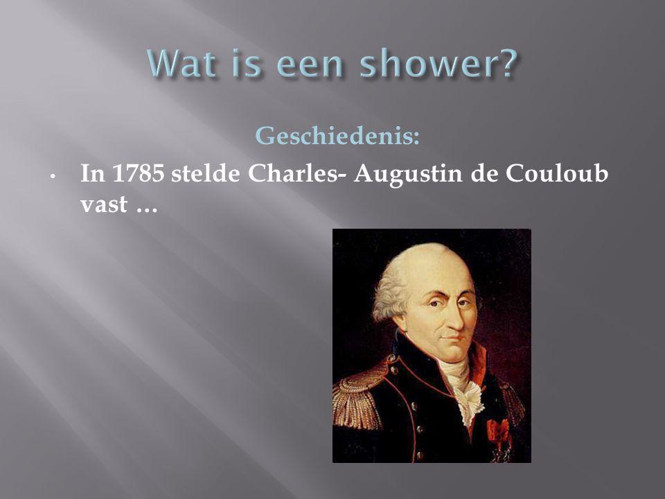 Geschiedenis: In 1785 stelde Charles- Augustin de Couloub vast …