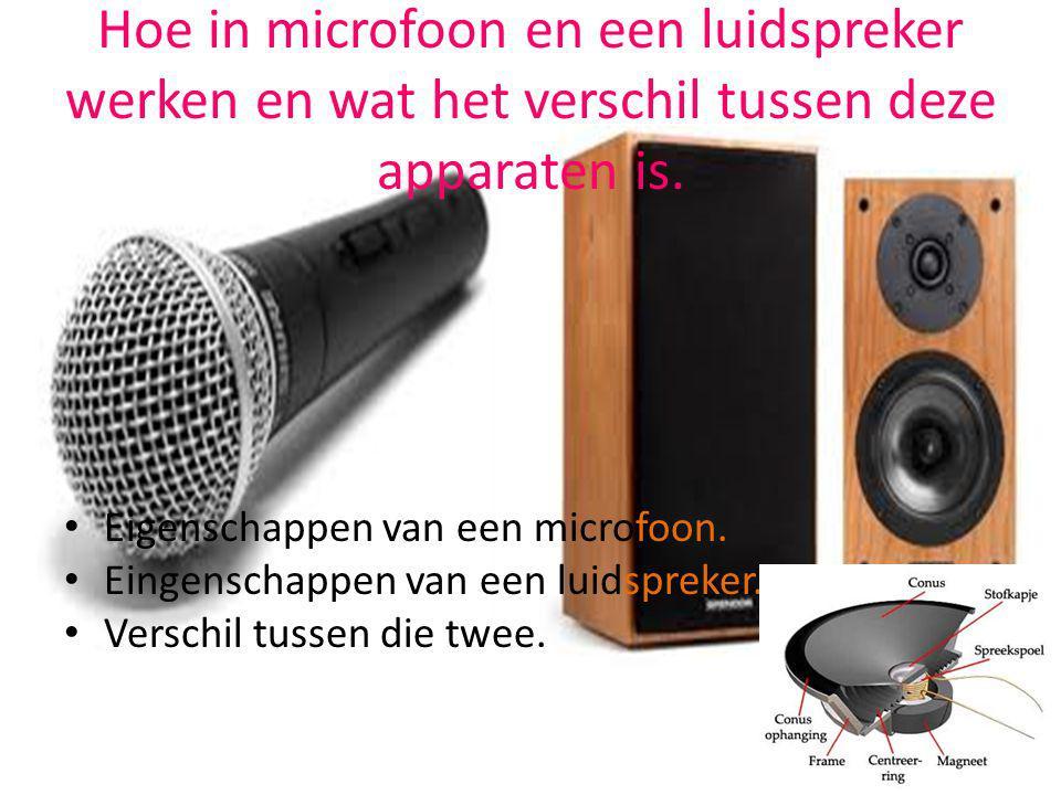 Hoe in microfoon en een luidspreker werken en wat het verschil tussen deze apparaten is. Eigenschappen van een microfoon. Eingenschappen van een luids