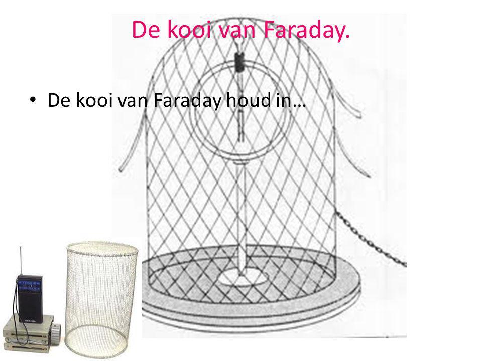 De kooi van Faraday. De kooi van Faraday houd in…