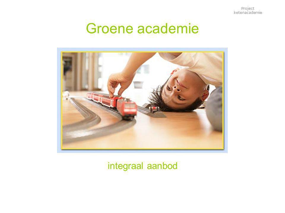 Project ketenacademie Groene academie integraal aanbod