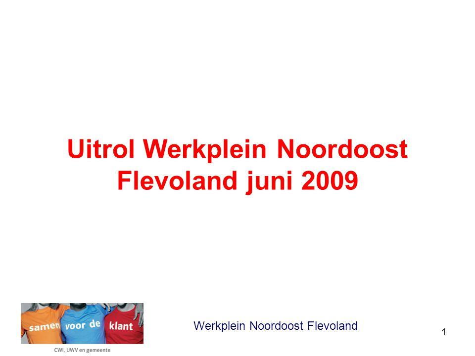 1 Uitrol Werkplein Noordoost Flevoland juni 2009 Werkplein Noordoost Flevoland