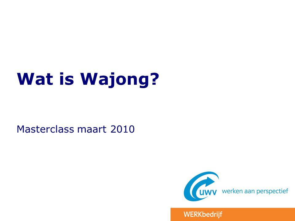 Wat is Wajong Masterclass maart 2010