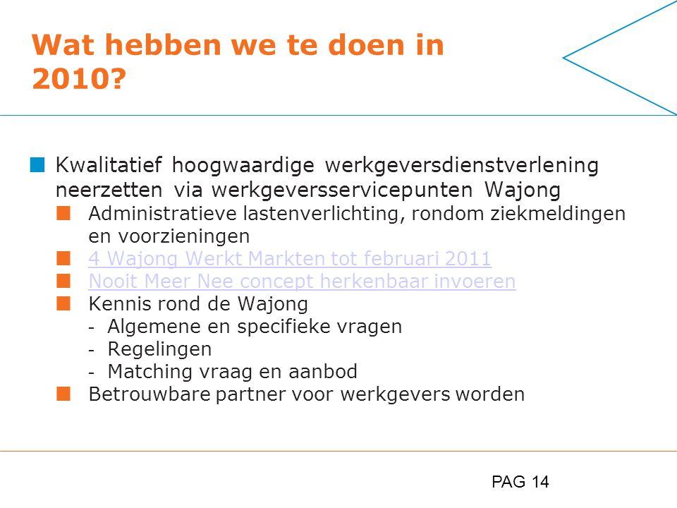 PAG 14 Wat hebben we te doen in 2010.