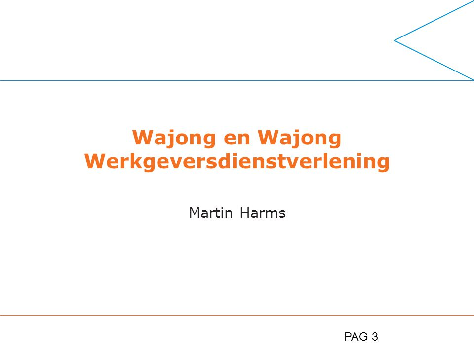 PAG 3 Wajong en Wajong Werkgeversdienstverlening Martin Harms