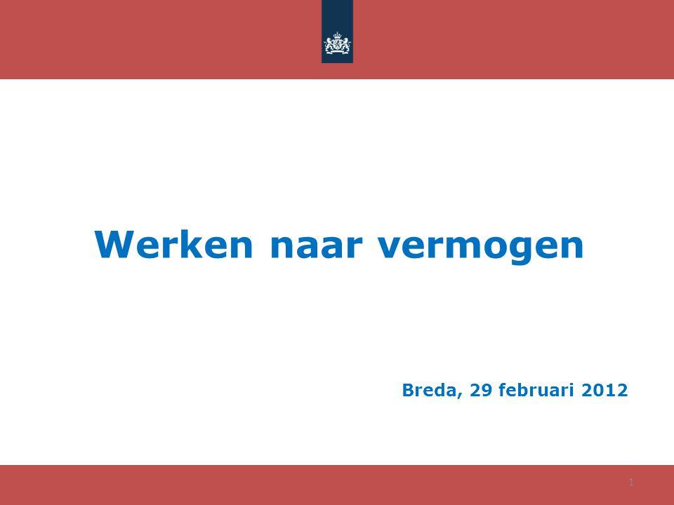 Werken naar vermogen Breda, 29 februari 2012 1