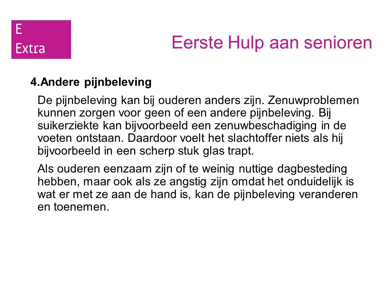 Eerste Hulp aan senioren 5.Veel voorkomende ziekten bij ouderen 1.Voedingsdeficiënties: een tekort aan belangrijke voedingsstoffen.