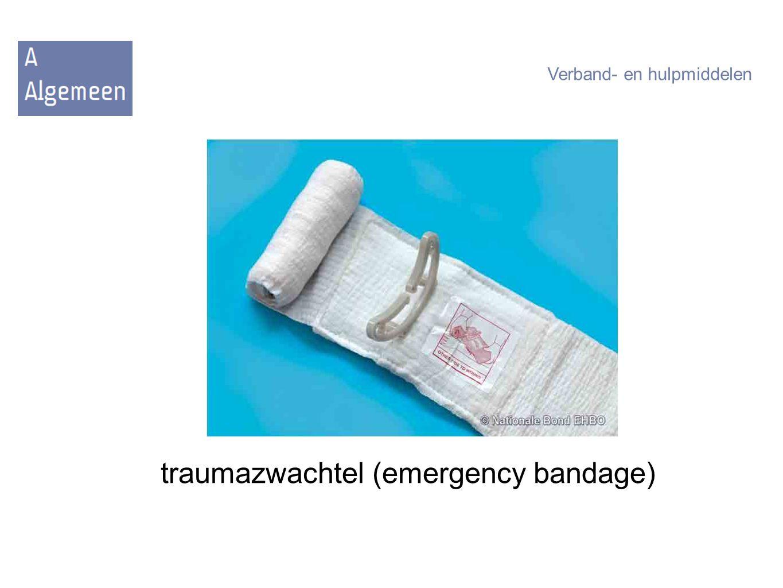 traumazwachtel (emergency bandage) Verband- en hulpmiddelen