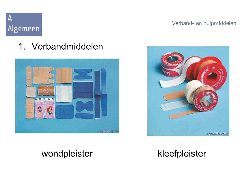 1.Verbandmiddelen wondpleisterkleefpleister Verband- en hulpmiddelen
