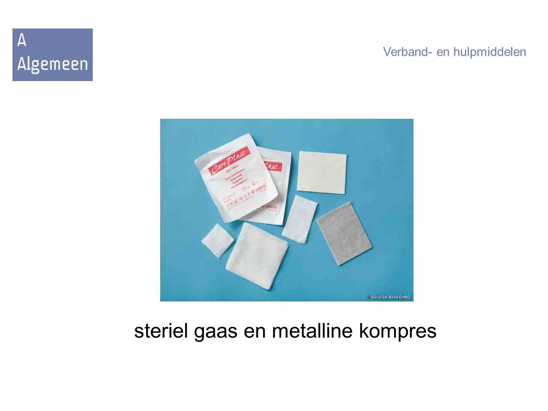 steriel gaas en metalline kompres Verband- en hulpmiddelen