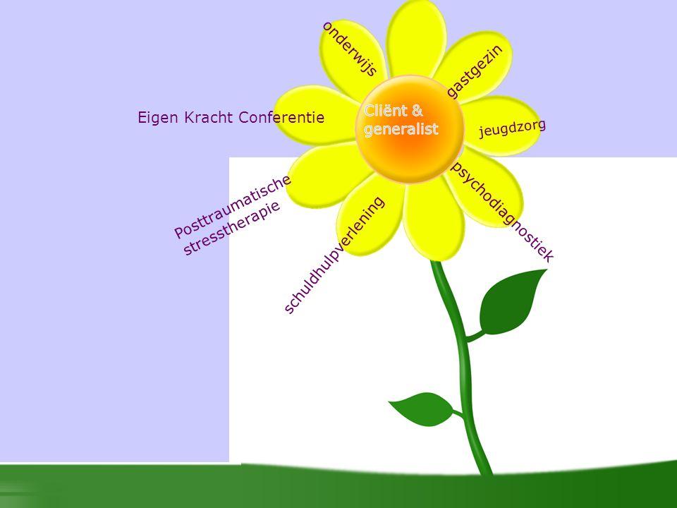 Eigen Kracht Conferentie psychodiagnostiek gastgezin Posttraumatische stresstherapie schuldhulpverlening onderwijs jeugdzorg