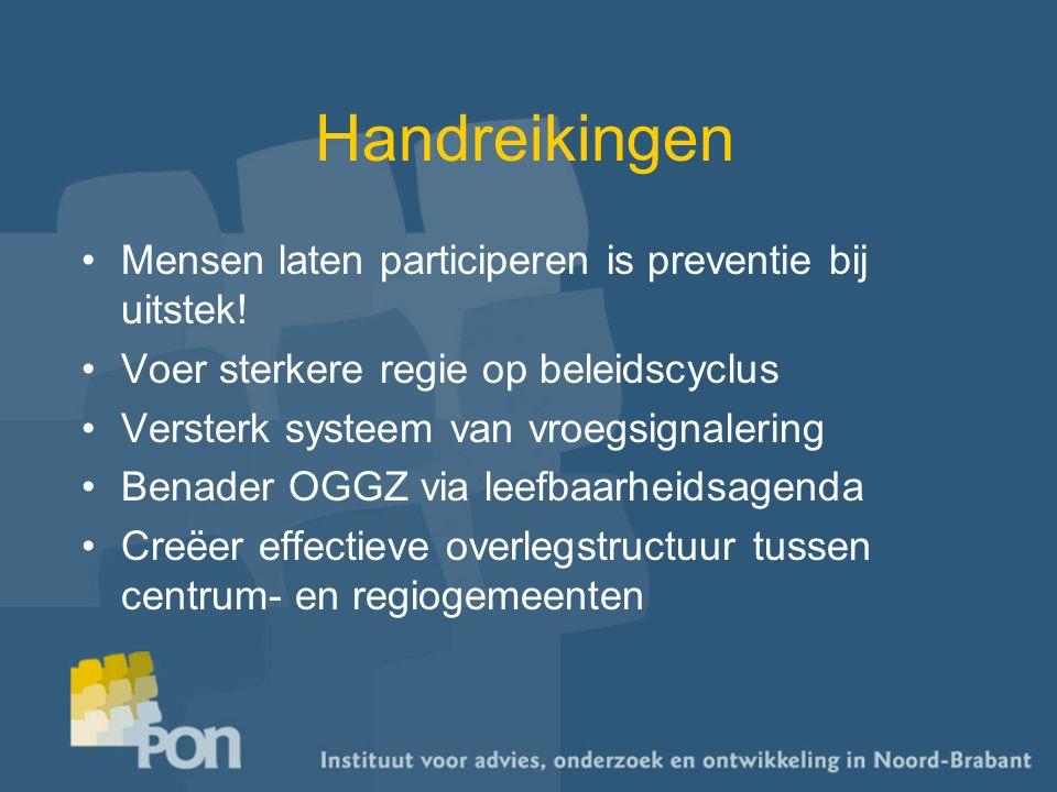 Handreikingen Mensen laten participeren is preventie bij uitstek.