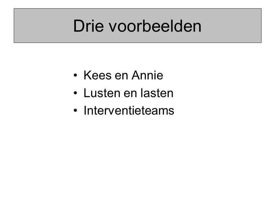 Drie voorbeelden Kees en Annie Lusten en lasten Interventieteams
