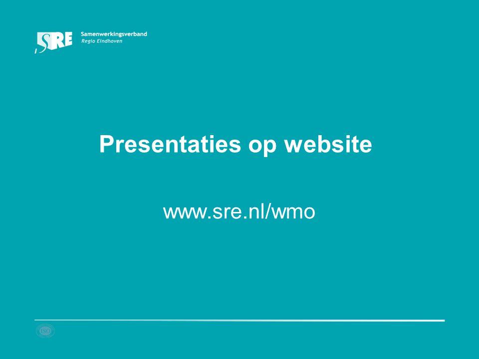 Presentaties op website www.sre.nl/wmo