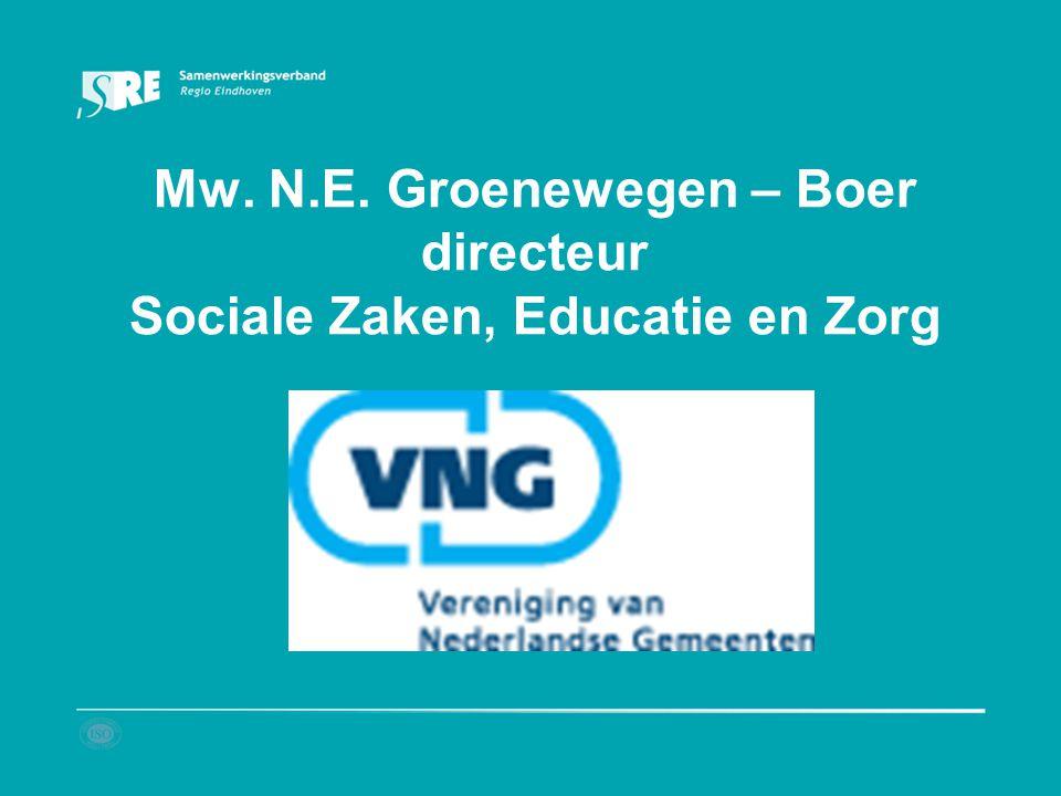 Mw. N.E. Groenewegen – Boer directeur Sociale Zaken, Educatie en Zorg