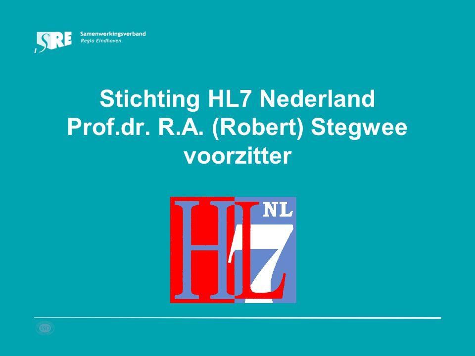 Stichting HL7 Nederland Prof.dr. R.A. (Robert) Stegwee voorzitter