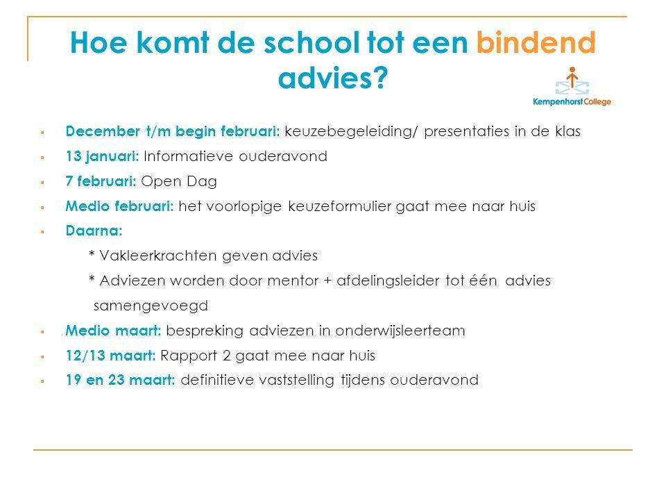 Hoe komt de school tot een bindend advies.