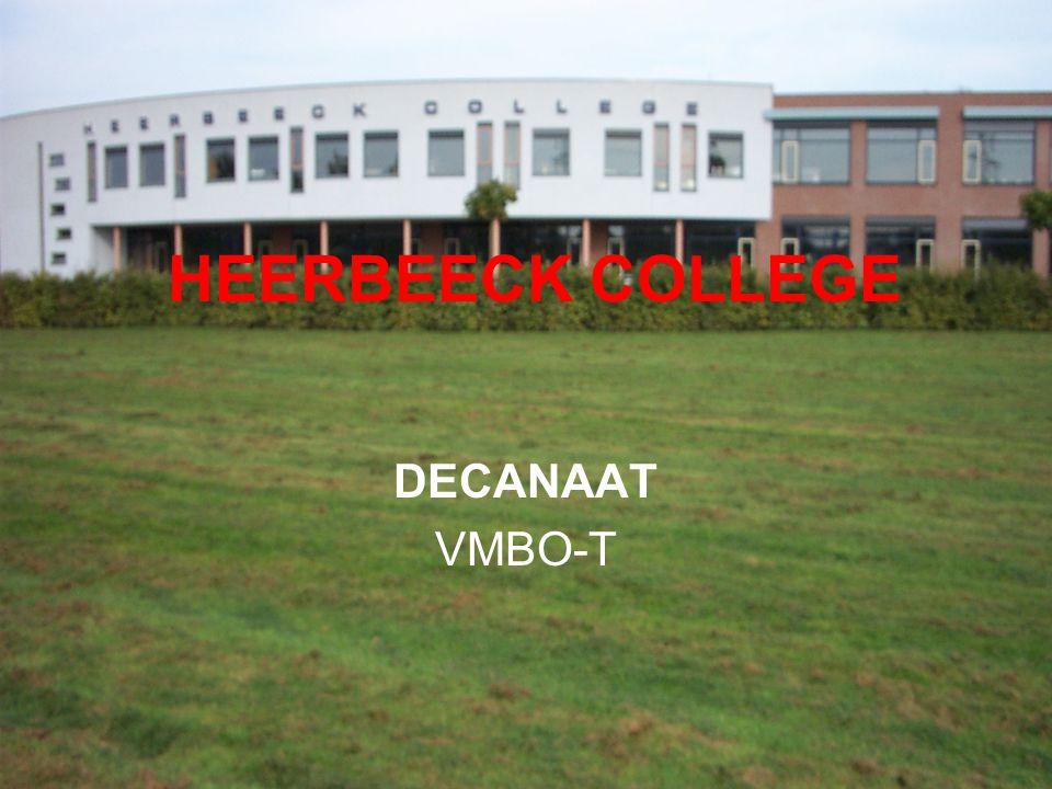 HEERBEECK COLLEGE DECANAAT VMBO-T