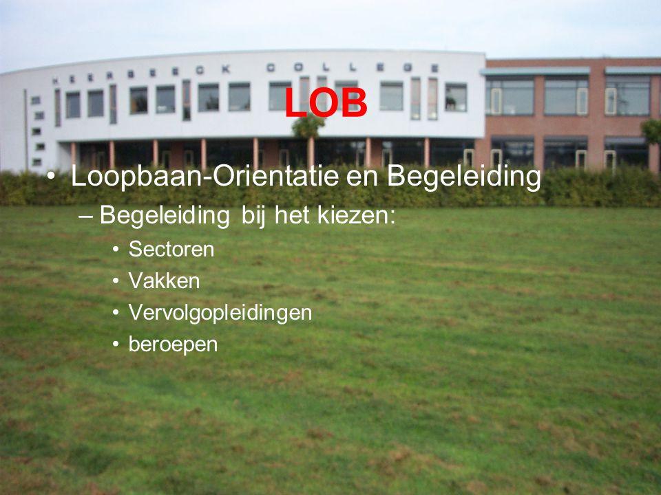 LOB Loopbaan-Orientatie en Begeleiding –Begeleiding bij het kiezen: Sectoren Vakken Vervolgopleidingen beroepen