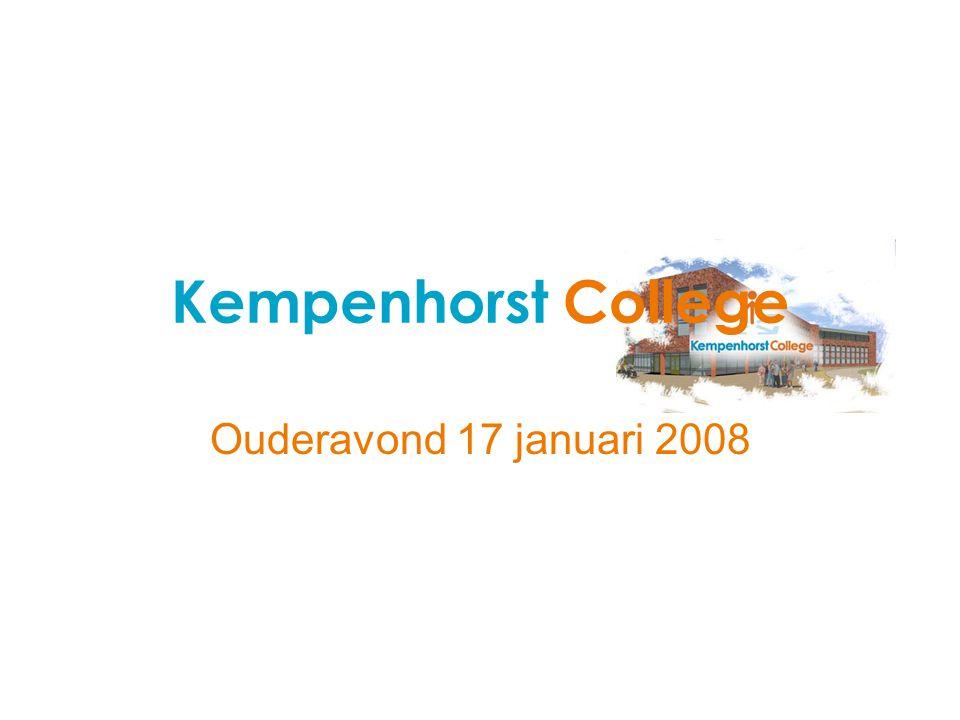 Kempenhorst College Ouderavond 17 januari 2008
