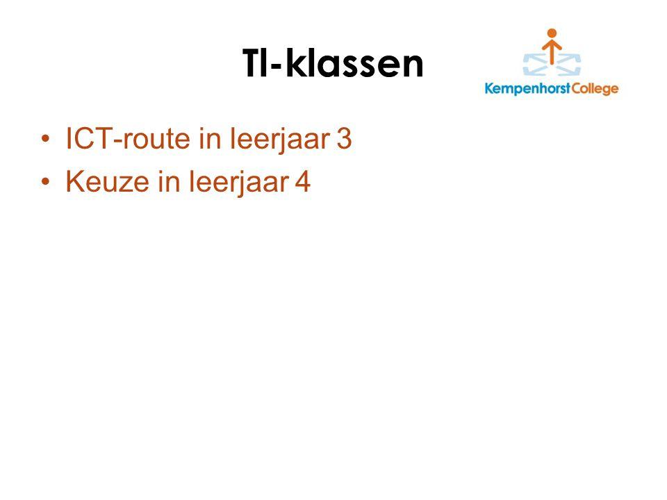 ICT-route in leerjaar 3 Keuze in leerjaar 4