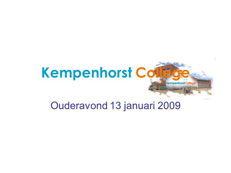 Kempenhorst College Ouderavond 13 januari 2009