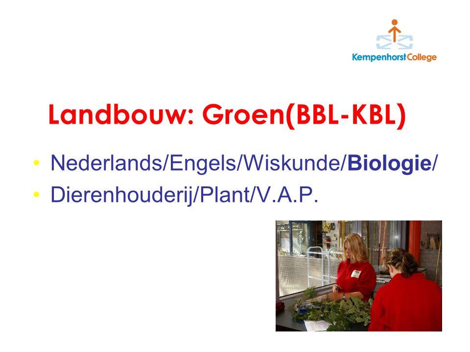 Landbouw: Groen(BBL-KBL) Nederlands/Engels/Wiskunde/Biologie/ Dierenhouderij/Plant/V.A.P.