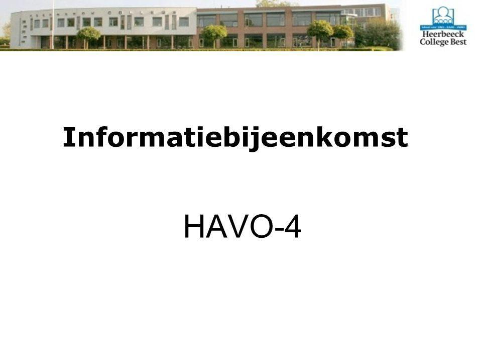 Informatiebijeenkomst HAVO-4