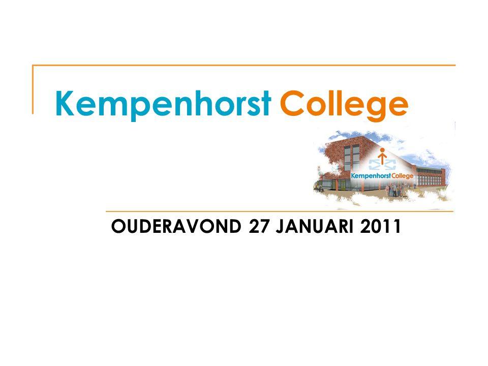 Kempenhorst College OUDERAVOND 27 JANUARI 2011