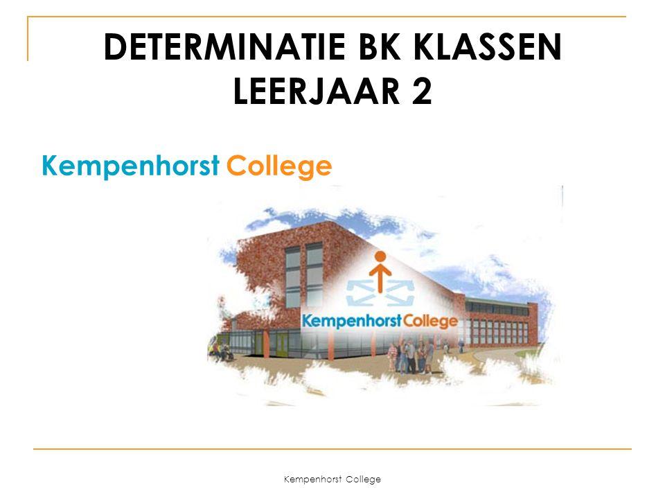 Kempenhorst College DETERMINATIE BK KLASSEN LEERJAAR 2 Kempenhorst College