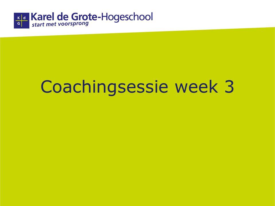 Coachingsessie week 3