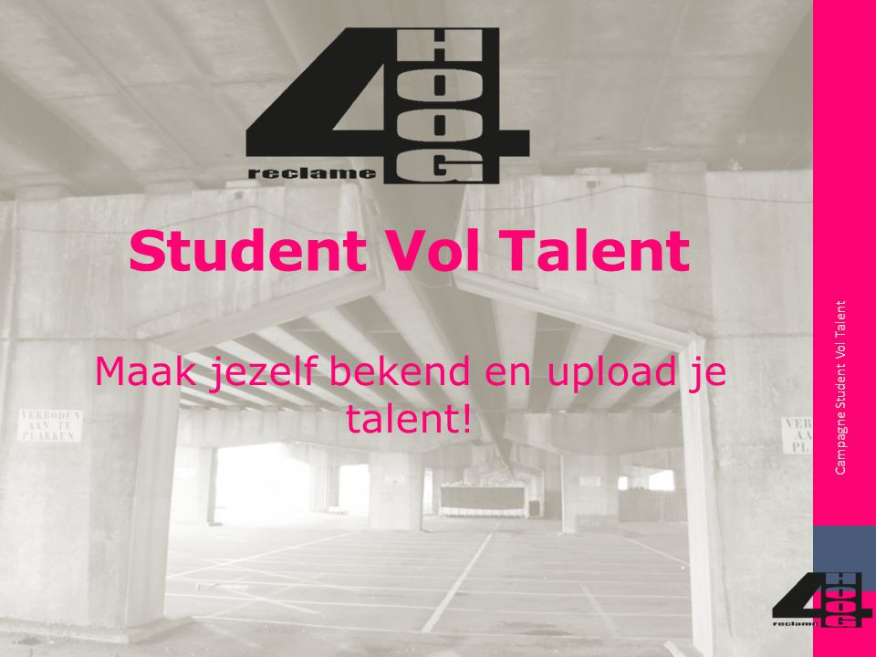 Doel en doelgroep Campagne Student Vol Talent Boodschap campagne Analyse doelgroep